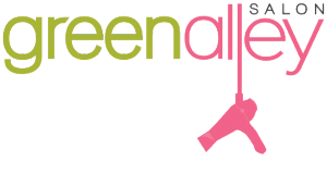green alley hair salon logo